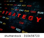 finance concept  pixelated red... | Shutterstock . vector #310658723