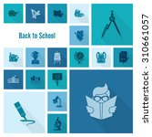 school and education icon set.... | Shutterstock . vector #310661057