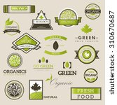 organic food logos  labels and... | Shutterstock .eps vector #310670687