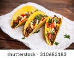 mexican food   delicious tacos... | Shutterstock . vector #310682183