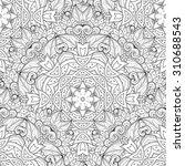 vector seamless monochrome... | Shutterstock .eps vector #310688543