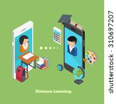 distance online learning concept | Shutterstock . vector #310697207