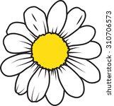 daisy flower | Shutterstock .eps vector #310706573