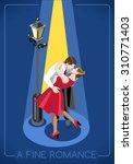 lovers couple romantic love... | Shutterstock .eps vector #310771403