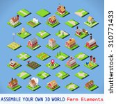 isometric building farm... | Shutterstock .eps vector #310771433