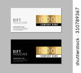 voucher template with premium... | Shutterstock .eps vector #310789367