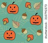autumn halloween seamless...   Shutterstock .eps vector #310792373
