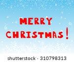 merry christmas vector... | Shutterstock .eps vector #310798313