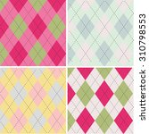colorful argyle seamless... | Shutterstock .eps vector #310798553