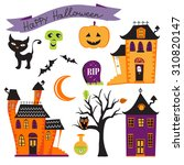 cute colorful halloween... | Shutterstock .eps vector #310820147