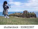 traditional scottish bagpiper... | Shutterstock . vector #310822307