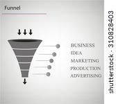 sales funnel | Shutterstock .eps vector #310828403