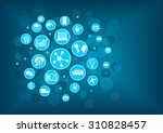 industrial internet of things ... | Shutterstock .eps vector #310828457