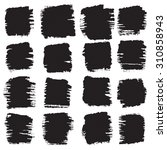 vector grunge brush strokes... | Shutterstock .eps vector #310858943