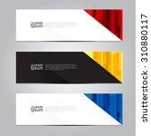 vector design banner background.... | Shutterstock .eps vector #310880117