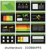 set of infographic presentation ... | Shutterstock .eps vector #310886993
