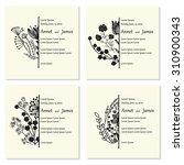 vector ornate floral half... | Shutterstock .eps vector #310900343