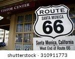 america santamonica american... | Shutterstock . vector #310911773