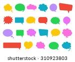 stickers of speech bubbles... | Shutterstock .eps vector #310923803