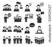 employee office team icon set | Shutterstock .eps vector #310924127