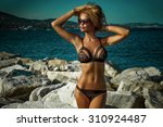 summer photo of beautiful sexy... | Shutterstock . vector #310924487