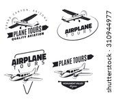 set of classic airplane emblems ... | Shutterstock .eps vector #310944977
