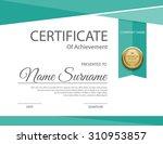 vector certificate template. | Shutterstock .eps vector #310953857