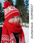 winter portrait of the... | Shutterstock . vector #310958327