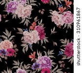 seamless floral pattern with... | Shutterstock . vector #310961867