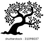 leafy tree silhouette   vector... | Shutterstock .eps vector #31098037