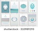 stock vector set of brochures... | Shutterstock .eps vector #310989293