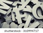 english alphabet background... | Shutterstock . vector #310994717