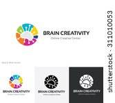 brain creativity logo brain... | Shutterstock .eps vector #311010053