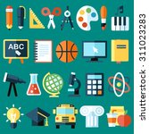 big vector collection of... | Shutterstock .eps vector #311023283