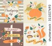 thanksgiving day in vector set... | Shutterstock .eps vector #311027693