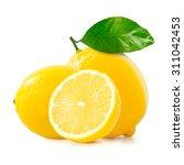 lemon over white background | Shutterstock . vector #311042453