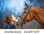 Portrait Of A Girl And Horse