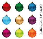 set of festive christmas... | Shutterstock .eps vector #311047337