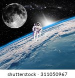 space landscape  view of the... | Shutterstock . vector #311050967