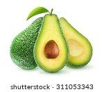 Isolated Avocado. Fresh Avocad...