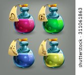 bottles of potion. vector...