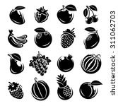 collection of fruits set.... | Shutterstock .eps vector #311062703