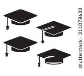graduation cap vector icons | Shutterstock .eps vector #311078633