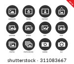 picture vector icons set. art...