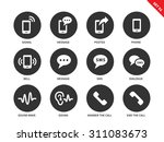 mobile phone vector icons set.... | Shutterstock .eps vector #311083673