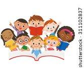 reading children | Shutterstock .eps vector #311102837