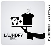 laundry service over color... | Shutterstock .eps vector #311104283
