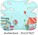 illustration of carnival stores ... | Shutterstock .eps vector #311117627