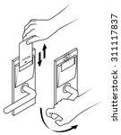 electronic keycard door opening ... | Shutterstock .eps vector #311117837
