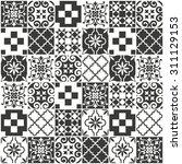 decorative tile pattern design. ... | Shutterstock .eps vector #311129153